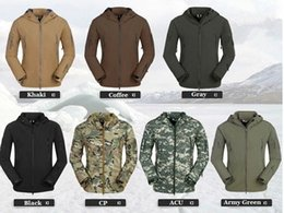 Wholesale Lurker Shark Skin Tactical Jacket - Fall-TAD Gear Lurker Shark skin Soft Shell V 4.0 Outdoor Military Tactical Jacket Waterproof Windproof Sports Hot Sale Army Clothing