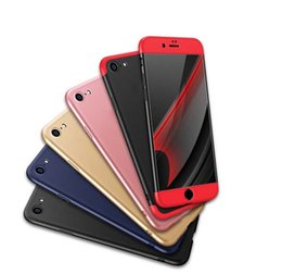 Wholesale Iphone Three Protection Case - Three Stages Protective Cover Hybrid Full Body Matte Protection Cover Case For iPhone 6 6S 7 Plus OPP BAG