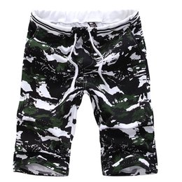 Wholesale Yellow Cargo Shorts For Men - Wholesale-2016 New Fashion Surf Shorts Mens Cargo Shorts Camouflage Printing Casual Beach Shorts For Men Straight