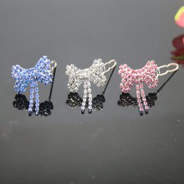 Wholesale Dog Bone Accessories - wholesale new arrivals !luxury rhinestone bone accessory for dog hairwear ornaments for dogs jewelry white, pink,blue colo