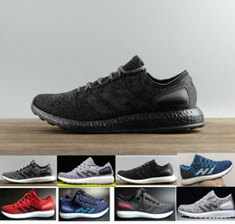 Wholesale Grey Knit - 2017 fashion Ultra Pure Boost sneaker ub 3.0 pb shadow knit 350 racer Women's MEN'S Running pureboost Sport Shoes Size US5-US11