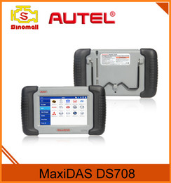 Wholesale Scan Tools For Vehicle - AUTEL MaxiDAS DS708 Universal Car Scan Tool Free WIFI Update Online Deep Vehicle System Live Data