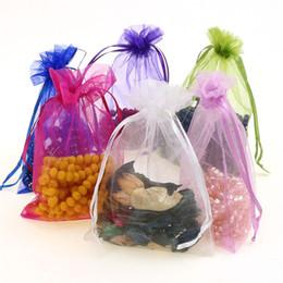 weihnachtsgewebe billig Rabatt Weihnachtsschmuck Bonbontüte 7 * 9 11 * 16 Kordelzug Organza Beutel Geschenkverpackung Beutel Schmuckbeutel Organza Münzfach Snacks Verpackungsbeutel