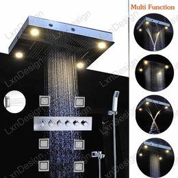 Wholesale Tapping Massage - 5 Star International Hotel Use LED Shower Lighting Fixtures,LED Shower Head massage shower jet tub faucet tap set