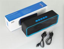 alto-falante sem fio portátil tf Desconto SC211 Altifalantes Sem Fio Bluetooth Dual speaker Subwoofer Sem Fio Mãos Livres Construído em Mic Portátil Surround Estéreo TF Cartão Mini Speaker
