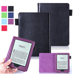 "Wholesale Ebook Amazon - Accessory PU Folio Flip Magnetic Leather Case Cover Skin Pouch For Amazon ALL-New Kindle 2016 8th Gen SY69JL 6"" Ereader eBook"