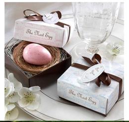 Wholesale Cheap Soap Favors - Wedding Favors Nest Egg Soap Gift box cheap Practical Unique Wedding Bath & Soaps Small Favors 20pcs lot new