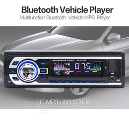 Wholesale Car Speaker Support Sd Card - Universal Vehicle Car Bluetooth Stereo Audio MP3 Player Support Hand Free Fhone Calls USB   SD   FM Card Reader CAU_00K