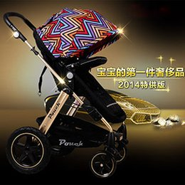 Wholesale Stroller Shock Absorbers - baby car Pouch baby stroller baby car buggiest light folding shock absorbers stroller baby carriage
