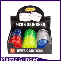 Wholesale Wholesale Plastic Grinders - Newest 3layer plastic herb grinder 60mm for smoke detectors pipe smoking pipes acrylic grinders for twisty glass blunt 0266138-1