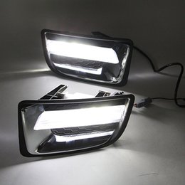 Wholesale Isuzu D Max - Car Flashing 12V LED CAR DRL Daytime running light fog lamp for Isuzu D-max Dmax 2014 2015 Daylight Driving lamp car styling