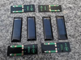 Wholesale Wholesale Polycrystalline Solar Cells - 20pcs  lot New Mini 0.5V 100mA solar panel solar cells solar accessories For Science and Technology DIY 53*18*2.5mm