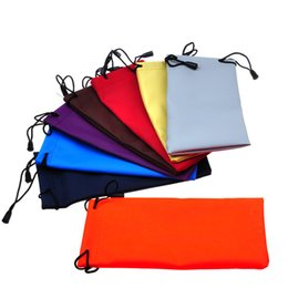 Wholesale Leather Eyeglass Pouches - 100pcs Waterproof Leather Plastic Sunglasses Pouch Soft Eyeglasses Bag Glasses Case Glasses Case Many Color Mixed 18*9cm Eyewear Accessories