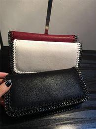 Wholesale Note Card Size - can DHL shipping Stella Mccartney size W18.5*H10*D1.5cm women wallets PVC chains purses