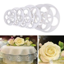 Wholesale Cakes Order - 6Pcs Rose Flower Fondant Cake Chocolate DIY Mold Cutter Decorating Tools For Kitchen Cake Decorating Tools Plastic Mold order<$18no track