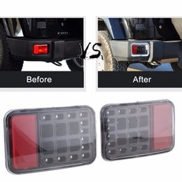 Wholesale Rear Light Assembly - LED Tail Rear Back Bumper Light Back up Reverse Lights Back Parking Light Brake Light Assembly for 07-15 Jeep Wrangler JK