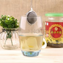 Wholesale Sphere Tea Filter - New Stainless Steel Sphere Locking Spice Tea Ball Strainer Mesh Infuser tea strainer Filter infusor #4047