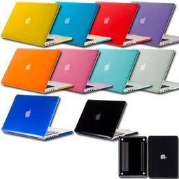 Wholesale Cheap 13 Inch Laptops - Cheap Rubberized Crystal Surface Hard Cover Case Air Pro Pro Retina 11 13 15 inch Crystal Case Cover For Macbook Laptop Bag
