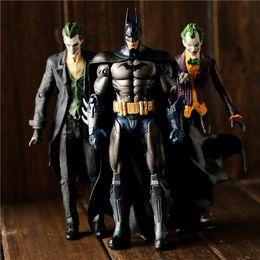 """Wholesale Batman Arkham - Action Figure Classic Animation Kids Toy Batman Arkham Knight The Joker Arkham Origins PVC Collectible Movable Model Toys 7"""" 18cm"""