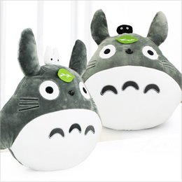 Wholesale Stuffed Animals For Ems - My Neighbor Totoro Pillow Stuffed Plush Animals Toys Soft Doll For Children and Kids toy 48*43cm Free Shipping 2 styles free shipping EMS