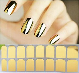 Wholesale Nail Art Stickers Black - 19 Designs 3D Tip Nail Art Sticker 16sheets pcs Black Golden Silver Leopard Style DIY Nail Beauty Decorations Tools High Quality