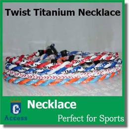 Wholesale Titanium Rope Necklace Sale - Hot sale double ropes twisted tornado baseball titanium sports necklaces