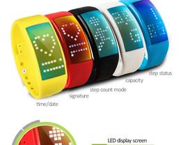 Wholesale I5 Phone Norwegian - Hot Sale W4E For Xiaomi I5 Plus Intelligent Alarm Clock IP67 Waterproof Wrist Watch Bluetooth Smart Bracelet Activity Tracker
