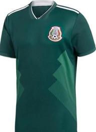 Argentina 2018 Copa del Mundo México camisetas de fútbol de alta calidad CHICHARITO R MARQUEZ G DOS SANTOS O PERALTA HERRERA camiseta de fútbol camisa camisetas de futbol Suministro