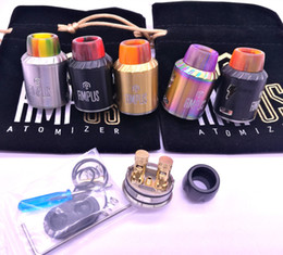 Wholesale Post Springs - Ampus RDA Atomizer with unique spring post resin drip tip screwless clone Ampus vaporizer DHL free shipping