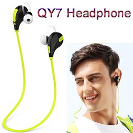 Wholesale Earphone Ear Bluetooth - QCY QY7 In-ear Bluetooth 4.0 Headphones Stereo Fashion Sport Running Wireless Headsets Studio Music Earphones With Mic Handsfree In Box