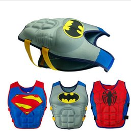 Wholesale Life Vest Wholesale - Baby Life jackets batman superman spiderman princess KT Micky drifting vest children swimming life vest kid Rafting life jacket D407 2