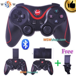 Wholesale Free Games For Mobile Phones - Bluetooth Gamepad For Android Smart Phone TV Box Joystick Wireless Bluetooth Joypad Game Controller With Free Mobile Holder