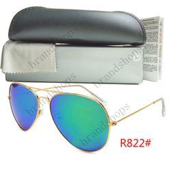 Wholesale Cheap Cats Eye Glasses - Brands Designer cheap luxury Unisex Gold Silver Frame Eyewear round Sunglasses Men women shades Fashion Retro glasses with original box