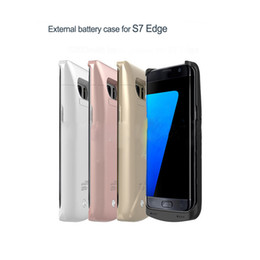 Wholesale External Backup Battery Back Case - External Backup Battery Cover Back Mobile Phone Cases for Samsung Galaxy S7 Edge Rechargeable Power Bank