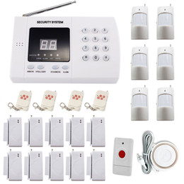 Wholesale 433 Mhz zone auto dial PSTN house burglar Alarm System Simple safe and easy to operate Wireless Panic Button for alarm system