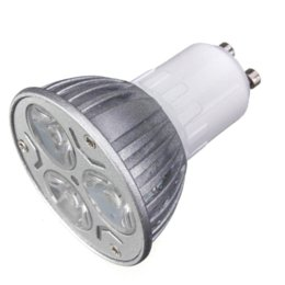 Wholesale Cheap Fluorescent Light Bulbs - Wholesale Price GU10 3W 3 LED High Power Spotlight Home Light Lamp Bulb AC220V Red Blue Yellow Green Cheap gu10 base bulbs