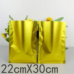 grossisti di plastica Sconti 100pcs / lots 22cm * 30cm * 160mic alta qualità oro calore Seal Borse sacchetto di plastica Candy Bag grossista