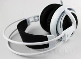 Wholesale Steelseries Siberia White - ew Headphones Steelseries Siberia V2 brand noise isolating game Headphones for headphone gamer Fast Shipping(White Black Red) Cheap v2 w...