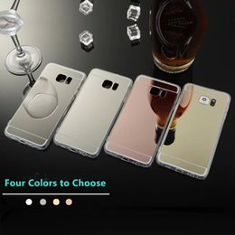Wholesale S4 Case Chrome - Mirror Electroplating Chrome Ultrathin Soft Clear Tpu Case For Samsung S2 S3 S4 S5 Back Cover Phone Cases