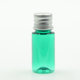 Wholesale Wholesale Mini Lotions - 10ml MINI Refillable Plastic Makeup Remover Lotion Bottle Vials Travel Cosmetic Containers with AU Cap 100pcs lot HN08