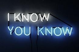 """Sinais neon comerciais personalizados on-line-Eu sei que Você Sabe Sinal de néon Casa Lâmpada de Arte de Trabalho Harley Bar Comercial Personalizado Sinal de Exibição Da Loja de Discoteca KTV Sinais de Néon 17 """"X 8"""""""