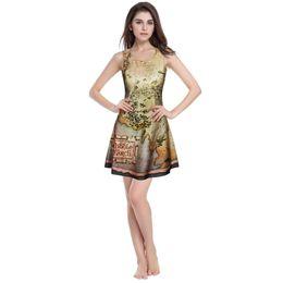 Wholesale Kawaii Mini Dress - MIDDLE EARTH MAP DRESS&THE HOBBIT MAP PLAY DRESS 3D print 2016 summer women casual dress sweatheart kawaii brand sex party dress