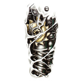 Wholesale New Fashion Man D Body Tattoo Robot stickers Cool Arm Waterproof Temporary Tattoo Stickers Styles