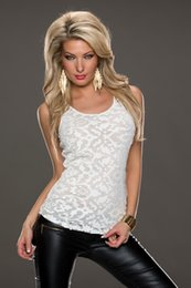 Wholesale Wholesale Clubbing Wear - Wholesale-R7929 Ohyeah brand wholesale and retail fashion clothing sexy club wear black and white lace tops popupar sleeveless top