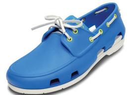 Wholesale Sail Shoes Men - 2016 new fashion free shipping men's beach sailing boat shoe lace sandals men sandals multicolor