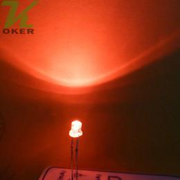 Flache top-leds online-1000pcs 3mm rote flache Spitzen-LED-Licht-Lampe führte Dioden 3mm flache Spitzen-ultra helle Weitwinkel-LED-freies Verschiffen
