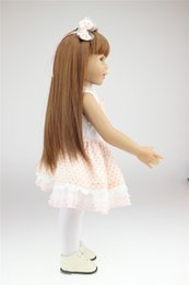 Wholesale Mini Full Love Doll - New Reborn 45cm NPK American Girl Doll Brinquedos With Smooth Hair For Dolls 18inch Full Body Silicone Reborn Dolls For You Love