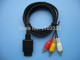 Wholesale Nintendo Rca Cable - FREE SHIPPING NEW 6FT Audio Video AV Cable to RCA for Nintendo GameCube N64 SNES #CCB01