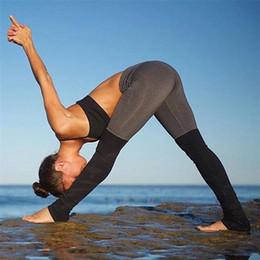 pantaloni stretti di esercitazione Sconti Commercio all'ingrosso - Le nuove donne di modo che cucono la lotta di colore attillato pantaloni di yoga leggings di fitness esercizio palestra abbigliamento A0310