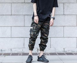 Wholesale Cargo Pants Capris Men - Men's Summer Casual Multi Pocket Military Army camouflage cargo Pants Homme Thin Ankle tied Cotton Black Camo Outdoor Harem Pants
